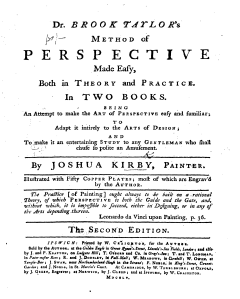 Title page of the second edition of Kirby's Method of Perspective